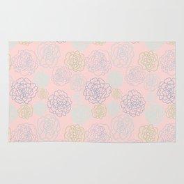 pink florals Rug