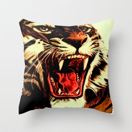 King Of Bengal Throw Pillow