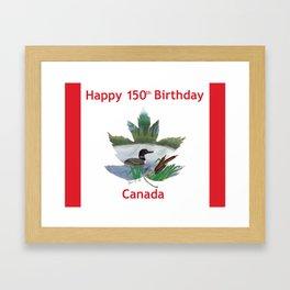 Happy 150th Birthday Canada Framed Art Print