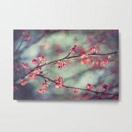 tiny RED flowers Metal Print