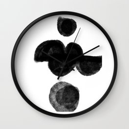 Man on wheel Wall Clock