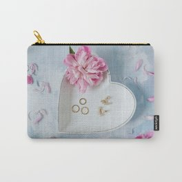 Still life peony flatlay Carry-All Pouch