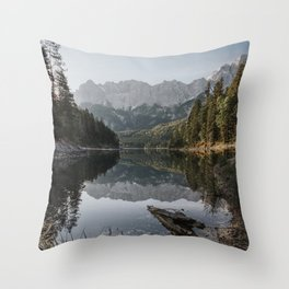 Lake View - Landscape and Nature Photography Throw Pillow