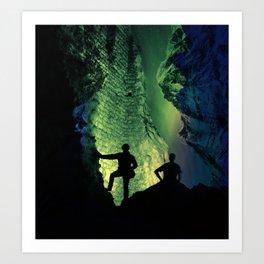 no lights to climb Art Print