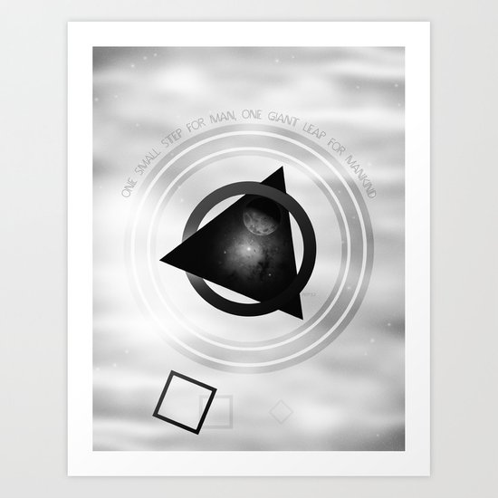 Point To The Moon Art Print