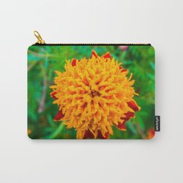 Orange Tagetes flower Carry-All Pouch