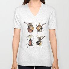 Meet the Beetles (white option) Unisex V-Neck