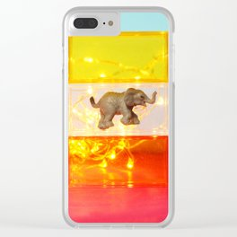 Floating Elephant Clear iPhone Case