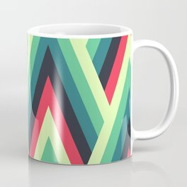 ZIG ZAG yellow, green, blue, black red Shapes Coffee Mug