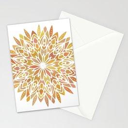 Mandala Desert Copper Gold Stationery Cards