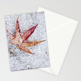 leaf and snow Stationery Cards