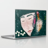 perfume Laptop & iPad Skins featuring Hair Perfume by Luna Kirsche