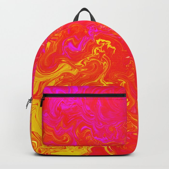 Fire Lava Passion Swirls Backpack