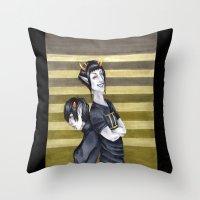homestuck Throw Pillows featuring SolKat by Sprat