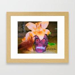 love never dies. Framed Art Print