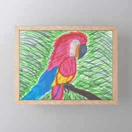 Pink Bird of Paradise Framed Mini Art Print