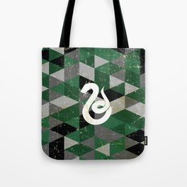 Slytherin House Pattern Tote Bag