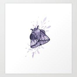 Amethyst Moth Art Print