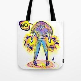 Angry NO ! Tote Bag