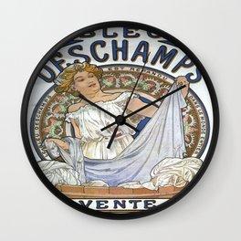 Vintage poster - Bleu Deschamps Wall Clock