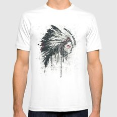 American Heritage (White) Mens Fitted Tee MEDIUM White