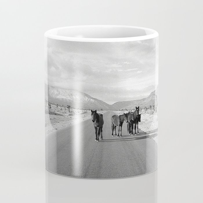 Spring Mountain Wild Horses Coffee Mug