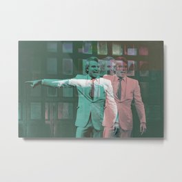 the man with two brains Metal Print
