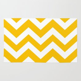 Golden poppy - yellow color -  Zigzag Chevron Pattern Rug