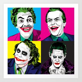 Pop Quad: The Joker Art Print