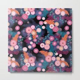 Flower Chain Metal Print