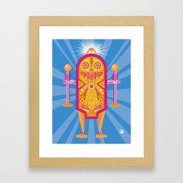Pinball Bot Framed Art Print