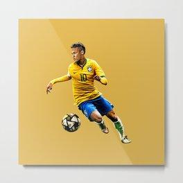 Neymar 10 Brazil Metal Print