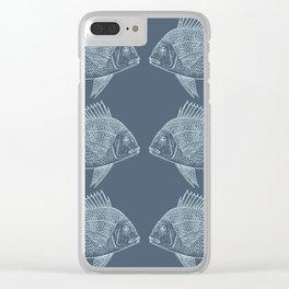 Blue Fish/es Clear iPhone Case