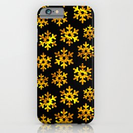 Watercolor Snowflakes (Golden Yellow) iPhone Case