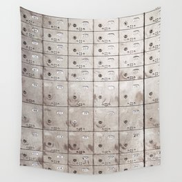 Chests with numbers Wall Tapestry