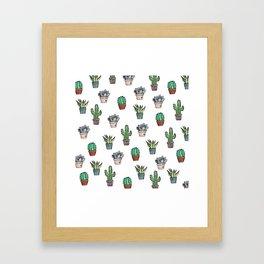 Watercolour Cacti & Succulents Framed Art Print