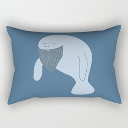 Silly Bearded Manatee Rectangular Pillow