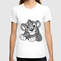 simba T-shirts featuring Zentangle Simba by ElFineLines