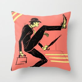 Silly Walk Throw Pillow
