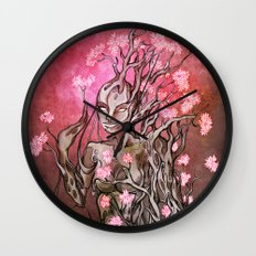 Lumen Blossoms Wall Clock