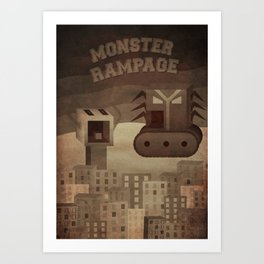 Monster Rampage (classic poster) Art Print