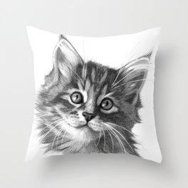 Maine Coon kitten G114 Throw Pillow
