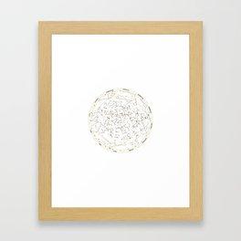 Star Chart of the Northern Hemisphere White Framed Art Print