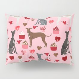 Italian greyhound love cupcakes valentines day dog breed gifts Pillow Sham