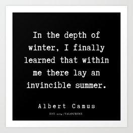 3  | Albert Camus Quotes | 190704 Art Print