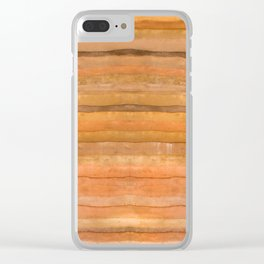 Gold Coral Wood Panel Clear iPhone Case