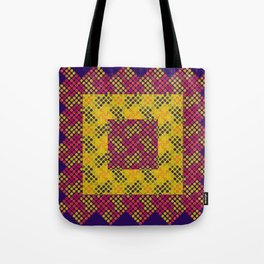 Dot Swatch Equivocated on Purple Tote Bag