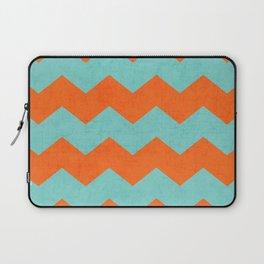 chevron - teal and orange Laptop Sleeve