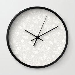 Gray Pattern Wall Clock