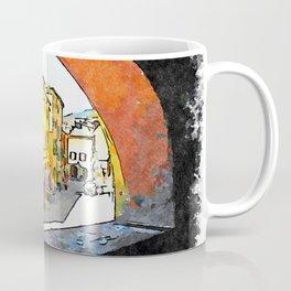 Brisighella: arched window with a glimpse on the buildings Coffee Mug